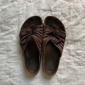 Havana Leather Birkenstocks